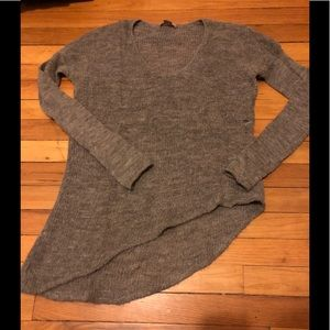 Helmut Asymmetrical Grey Sweater